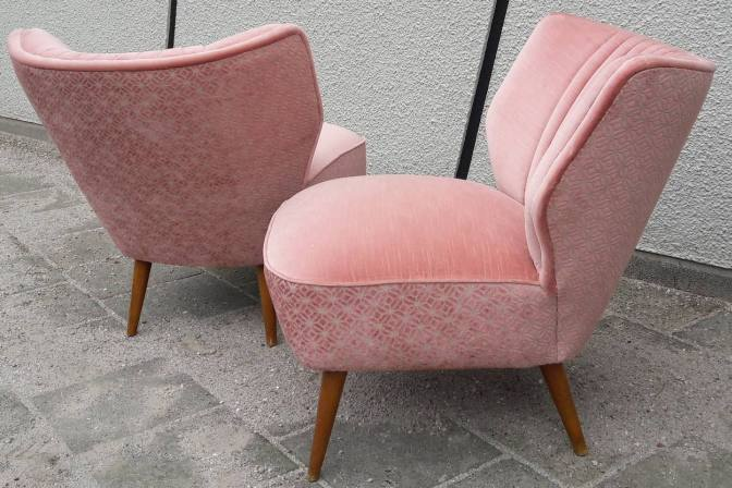 Cocktail Stoel Vintage : Pair of cocktail lounge chairs by theo ruth for artifort s